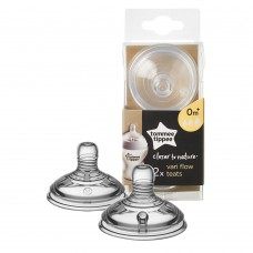 Tommee Tippee Silicone teat 2pc 0m.+