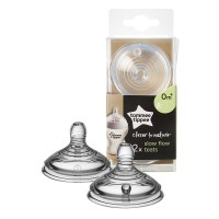 Tommee Tippee Easi-Ven Silicone teat 2pc 0m.+