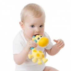 Playgro Jerry Giraffe Squeak and Soothe Natural Teether
