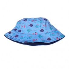 Baby Summer Hat Blue Fish