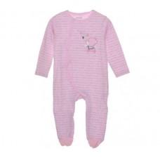 Babybol Baby Romper Bear, Pink Stripes