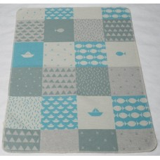 David Fussenegger Baby Blanket Juwel Sea, Blue