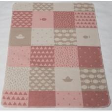 David Fussenegger Бебешко одеяло Juwel 70x90 Морски свят, Розово