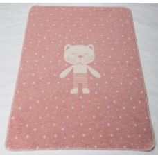 David Fussenegger Baby Blanket Juwel Bear, Pink