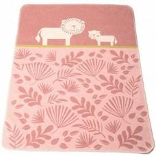 David Fussenegger Baby Blanket Juwel Lions, Pink