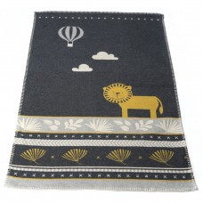 David Fussenegger Lena Cot Blanket, Organic Cotton Lion Grey