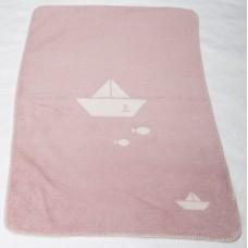 David Fussenegger Бебешко бамбуково одеяло Panda Розови лодки