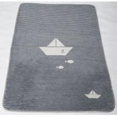 David Fussenegger Panda Bamboo Blanket Boat, Grey