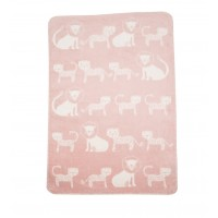 David Fussenegger Panda Bamboo Blanket Lions and Tigers, Pink