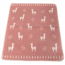 David Fussenegger Baby Blanket Juwel Lama, Pink