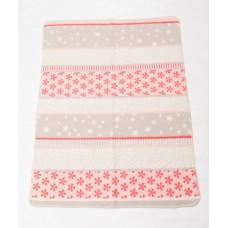 David Fussenegger Бебешко одеяло от органичен памук Maja Снежинки Розово