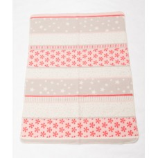 David Fussenegger Maja Organic Cotton Baby Blanket Snowflakes Pink