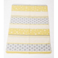 David Fussenegger Maja Organic Cotton Baby Blanket Snowflakes Green