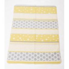 David Fussenegger Бебешко одеяло от органичен памук Maja Снежинки Зелено