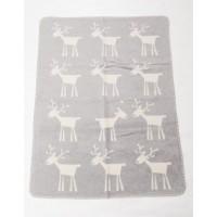 David Fussenegger Panda Bamboo Blanket 100х150 cm Reindeer, Grey