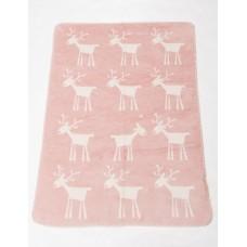 David Fussenegger Panda Bamboo Blanket Reindeer, Pink