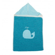 David Fussenegger Juwel Hooded Blanket 45х76 cm Blue whale