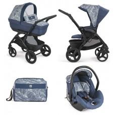 Cam Baby stroller 3 in 1 Dinamico Smart col.914 Blue Leaf