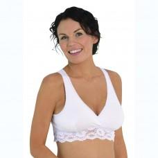 Carriwell Lace Nursing Bra, White