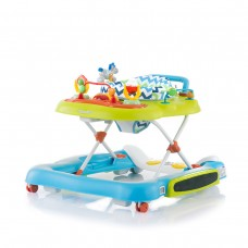 Chipolino Fancy 4 in 1 Baby Walker, Blue - Lime