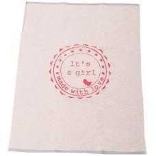 David Fussenegger Бебешко одеяло Eco 70 x 90 cm It's a Girl