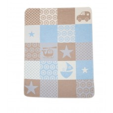 David Fussenegger Бебешко одеяло Juwel 70х90 Звезди светлосиньо