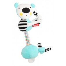 Mom's care Мека играчка-дрънкалка за количка с връзки Синьо мече