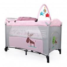Cangaroo Travel cot Happy Baby Pink