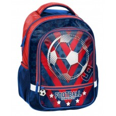 PASO School Backpack Football, Blue