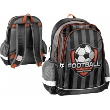 PASO School Backpack Football, Grey