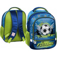 PASO School Backpack Football, Green