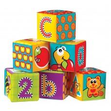 Playgro Меки кубчета за баня Букви и цифри