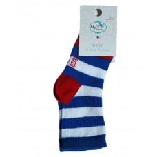 Baby Socks Blue Stripes