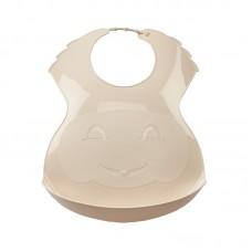 Thermobaby Soft plastic bib Sandy Brown