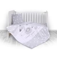 Lorelli 3-elements Bedding Set Swan Grey