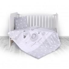 Lorelli Детски спален комплект от 3 части Swan Grey