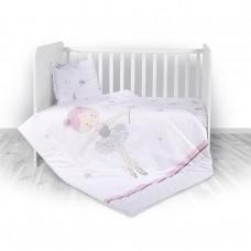 Lorelli Детски спален комплект от 4 части Ballet Pink
