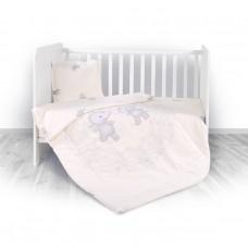 Lorelli Детски спален комплект от 4 части Happy Hippo Beige