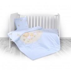 Lorelli Детски спален комплект от 4 части Bear Party Blue