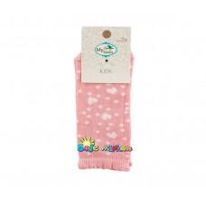 Детски спортни чорапи 2 - 4 години, Розови Сърца