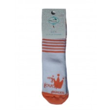 Baby Non-Slip Thick Socks with Silicone Dots, Princess