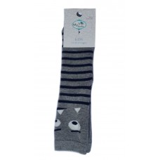 Baby Non-Slip Thick Socks with Silicone Dots, Grey
