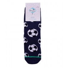Baby Non-Slip Thick Socks with Silicone Dots, Football