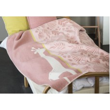 David Fussenegger Baby Blanket Juwel Giraffe, 100 x 140 cm, Pink