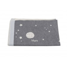 David Fussenegger Baby Blanket Juwel Space Grey, 100 x 140 cm
