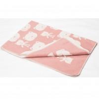 David Fussenegger Baby Blanket Juwel Bears Pink, 100 x 140 cm