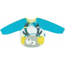 Badabulle Long Sleeved Bib Blue Deer