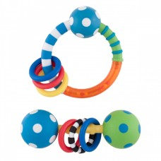 Sassy Ring & Polka Dot Rattle Combo Pack, Boy