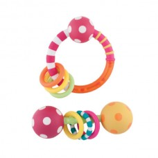 Sassy Ring & Polka Dot Rattle Combo Pack, Girl