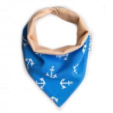 Bandana Bib Pirate blue